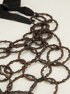 MARIA CALDERARA - beaded resin necklace 6