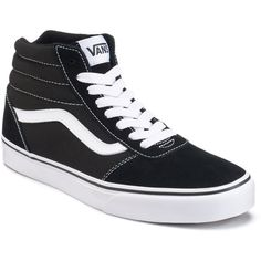 5ee96388788b Vans Ward Hi Men s Suede Skate Shoes ( 65) ❤ liked on Polyvore featuring  men s