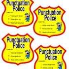 Fluency- Punctuation Police Badges    - Fluency and acknowleldging punctuation continue to be a challenge for several students.     -With this badge, o...