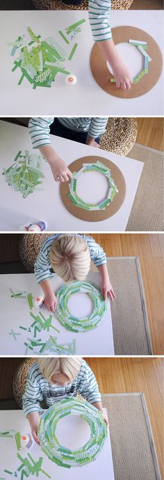 Paper Strip wreath