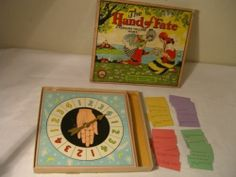 OLD 1928 PARKER BROTHERS THE HANDS OF FATE FORTUNE TELLING GAME VERY RARE