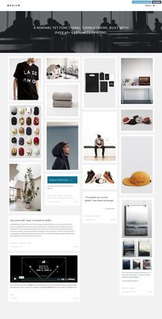 Medium - Cover Grid Blog Tumblr Theme. Live Preview & Download: http://themeforest.net/item/medium-cover-grid-theme/6823264?ref=ksioks