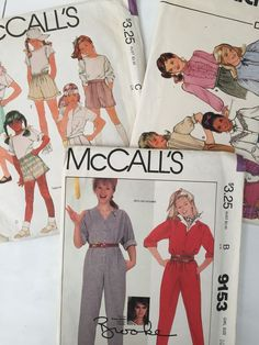 Vintage Lot of Butterick McCall's Sewing Patterns Brooke Shields Girl Size 10