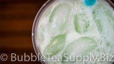 Learn how to make a Honeydew Latte Bubble Tea drink by Bubble Tea Supply. This is the standard recipe for our flavor powder however you can easily substitute in milk, almond milk, etc for the creamer and water. You can also change out the sweetener to match the flavor preferences of your customers or friends and family. Visit our website for the full recipe.