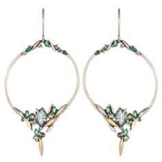 Juniper Marquis Cluster Link Earring with 18k Gold Marquis