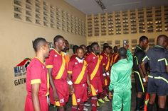 Stationery Stores Players in the Tunnel, just before kick off in Abeokuta