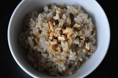 Sweet and Savory Porridge with Almonds and Cardamom