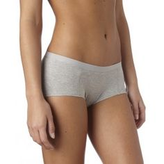 PACT : Women's Everyday Heather Grey Boy Short Two Pack