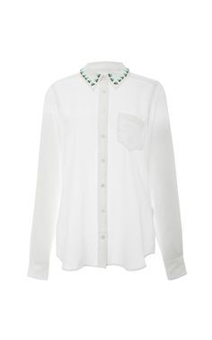 Brett Embellished-Collar Silk Shirt by Equipment - Moda Operandi