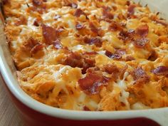 If your familiar with my recipes then I am sure you know my love of buffalo chicken… and I couldn't believe I had not made a bubble up creation yet. This casserole is seriously so good and easy to mak