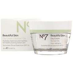 No7 Beautiful Skin Day Cream - Normal / Oily , The perfect day cream that hydrates, balances and mattifies for healthy-looking  radiant skin. SPF 15.