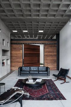 Image 1 of 32 from gallery of odD House / odD+. Photograph by Jose Ignacio Correa & Jean-Claude Constant L Architecture Details, Interior Architecture, Sofa Inspiration, Lounge Chair, Industrial Interior Design, Brick Tiles, Loft, Entry Hall, Ceiling Design