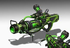 ArtStation - Unreal Tournament - Bio Rifle , Eddie Mendoza