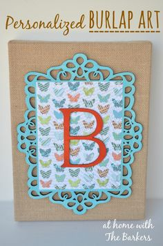 Personalized Burlap Art perfect for Spring. #MPinterestParty