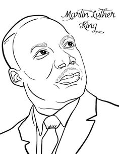 printable martin luther king coloring page free pdf download at httpcoloringcafe - Free Printable Martin Luther King Coloring Pages