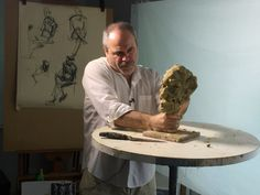 Let Simon Kogan guide you through all the necessary steps in sculpting a portrait with likeness, looseness and depth. Oil Based Clay, Art Lessons, Printmaking, Sculpting, Portrait, Drawings, Modern, Painting, Entertainment