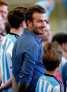 Oh, just David Beckham smoldering in the stands at the World Cup
