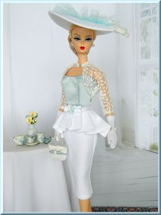"""OOAK """"Easter/Spring Fashion"""" for Silkstone Barbie by Joby Originals"""