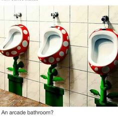 Baño para chicos Gamers. Mario Bros