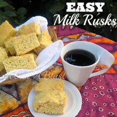 Easy Milk Rusks ~ delicious breakfast or teatime treat #rusks #teatimetreats via:withablast.blogspot.com