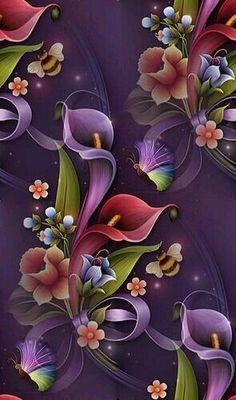 "Photo from album ""Цветочные фоны"" on Yandex. Flowery Wallpaper, Flower Phone Wallpaper, Butterfly Wallpaper, Rose Wallpaper, Cellphone Wallpaper, Iphone Wallpaper, Folk Art Flowers, Flowers Gif, Beautiful Flowers Wallpapers"