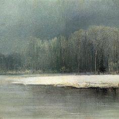 Winter landscape. Rime - Aleksey Savrasov, ca.1870 (Russian, 1830 – 1897)