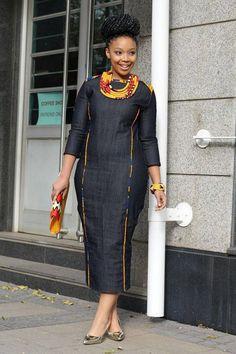 Denim African dress by EssieAfricanPrint on Etsy africaine African Denim dress EssieAfricanPrint Etsy africandressstyles Denim African dress by EssieAfricanPrint on Etsy africaine African Denim dress EssieAfricanPrint Etsy afrikanischeskleid Denim Afri African Dresses For Kids, African Maxi Dresses, Latest African Fashion Dresses, African Print Fashion, African Attire, Modern African Dresses, Shweshwe Dresses, African Traditional Dresses, Denim Fashion