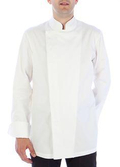 Chaqueta oriental Coll Mao blanca #chaquetascocinero #cocina #csty #uniformeshosteleria