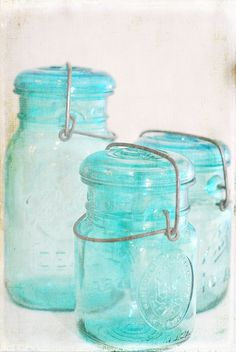 I have started collecting some vintage bottles and jars. Here are some bicentennial canning jars, processed using one of Kim Klassen's textures.