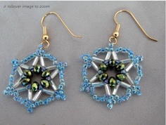 Lots of #Free #Jewelry Making Tutorials & Lessons: #Star Beaded #Earrings Pattern