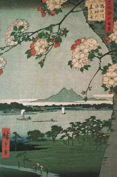 Suigin Grove and Masaki by Ando Hiroshige - art print from Easyart.com