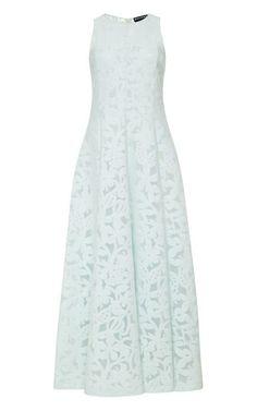Jersey Jacquard Devoré Dress by Rochas Now Available on Moda Operandi