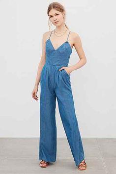 7c4dd2924148 Lovers   Friends Cyprus Denim Jumpsuit - Urban Outfitters Jeans Jumpsuit