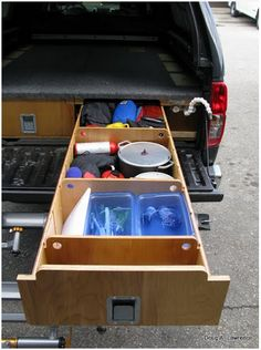truck storage for camping, misc
