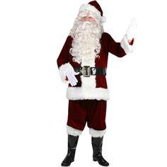 Ultra Velvet Santa Suit Costume - Large (Standard)