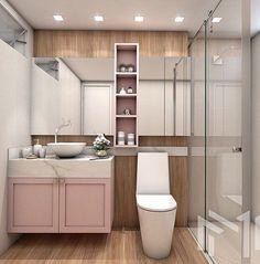 5 dicas de Banheiros Incríveis #GabyInspira | Gaby Garciia Bathroom Interior Design, Home Interior, Space Saving Bathroom, Bathroom Inspiration, Home Furniture, Toilet, Sweet Home, Room Decor, House Design