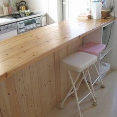 賃貸でもここまで出来るの!?みんなのキッチンDIYが凄いことになってる - Linomy[リノミー] - Diy Kitchen, Kitchen Interior, Kitchen Dining, Desk Styling, Dream Rooms, Home Hacks, My Room, Diy And Crafts, House Plans