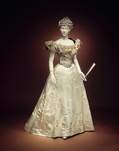 House of Worth, ball gown, 1898