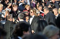 Arrivée de Brad Pitt, LA star du jour à Cannes, pour le film d'Andrew Dominik en Compétition officielle,Killing Them Softly.