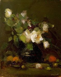 Art Floral, Oil Painting Flowers, Painting & Drawing, Old Portraits, Still Life Flowers, Still Life Oil Painting, Great Paintings, Art Studies, Painting Inspiration