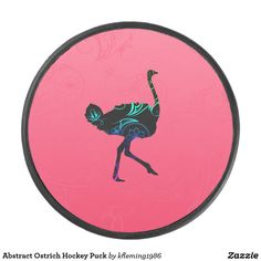 Shop Abstract Ostrich Hockey Puck created by Personalize it with photos & text or purchase as is! Hockey Puck, Ferrari Logo, Sports Equipment, Teamwork, Party Hats, Kids Learning, Vibrant, Crystals, Abstract
