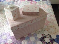 Serie handgemaakte dozen