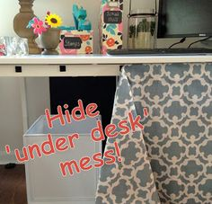 Making a desk skirt for school . - Office Desk - Ideas of Office Desk - Making a desk skirt for school . Classroom Setup, Classroom Design, Future Classroom, School Classroom, Classroom Storage Ideas, Classroom Board, History Classroom, Classroom Resources, Office Desk Organization