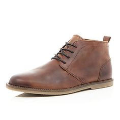 J Shoes Realm Mens Mid Brown Leather Chukka Boots | Wear ...