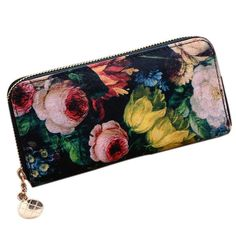 Womens Long Purses Retro Wallet Zipper Pu Leather Clutch U5G5