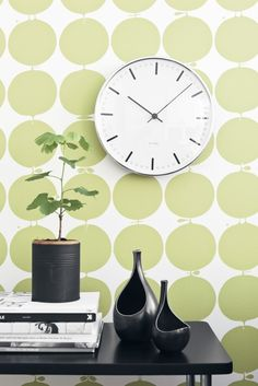 Green Apples ($120 and up): This Scandinavian wallpaper is elegant, graphic and very original. You could cover a whole wall with it, or use it as decorative panels.