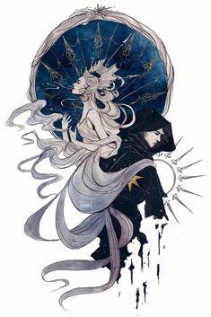 Your daily dose of Reylo~ Pure Reylo Art / Text / Image Posts. Ask box open~ Art Et Illustration, Star Wars Art, Art Plastique, Dark Art, Art Inspo, Amazing Art, Art Reference, Character Art, Fantasy Art