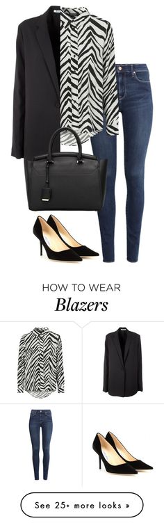"""""""Untitled #1785"""" by officialnat on Polyvore featuring Jimmy Choo, H&M, Topshop and T By Alexander Wang"""