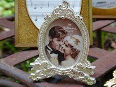 Frame, Small Frame, Silver Frame, Oval Frame, Vintage Frame, 2 x 3 Frame, Hallmark Frame, 1990s, Metal Frame, Angels, Cupids, Wedding, Bride by CasaKarmaDecor on Etsy
