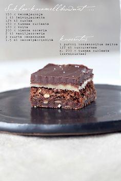 suklaa-karamellibrowniet - Vaaleanpunainen hirsitalo | Divaaniblogit